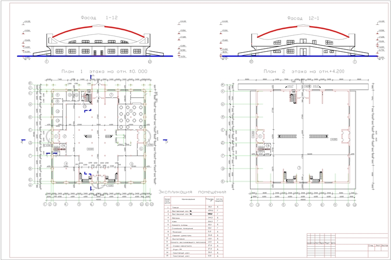 ФАСАД 1 и 2 этажа Лист 2-Model