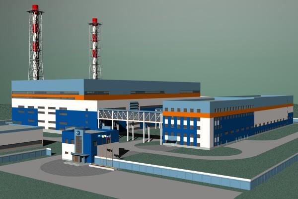 3Д схема станции